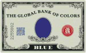 צבע כחול מהבנק הגלובלי של הצבעים